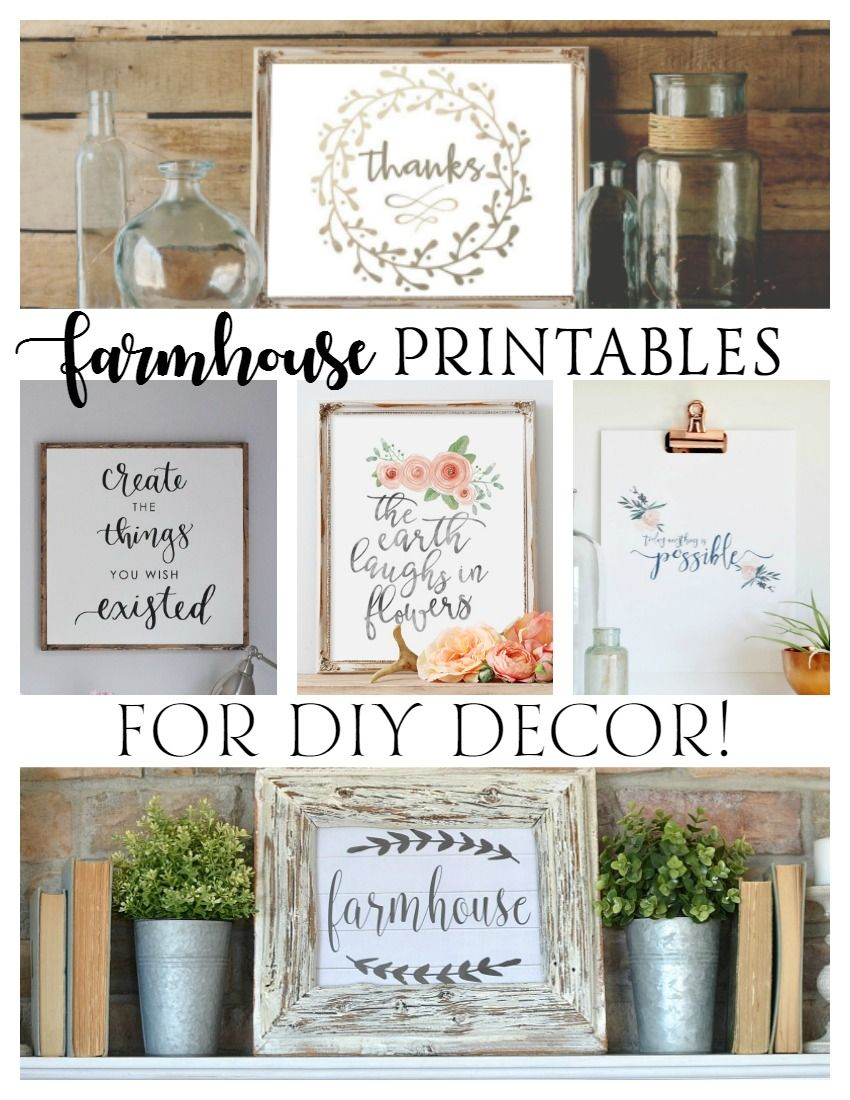 Free Farmhouse Printables for DIY Decor! Printable decor