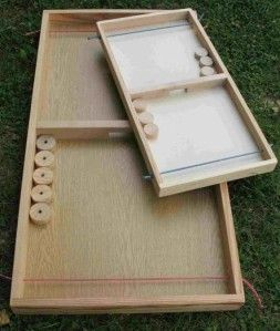 jeu du palet fabriquer diy shuffleboard game jeux en bois pinterest jeu du palet. Black Bedroom Furniture Sets. Home Design Ideas