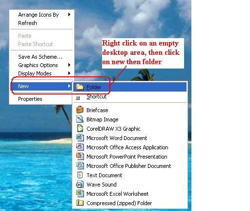 How to Create Folders In Windows XP Windows xp and Create