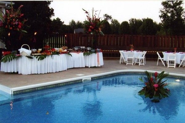 Poolside Wedding Reception personal (With images)   Pool ...