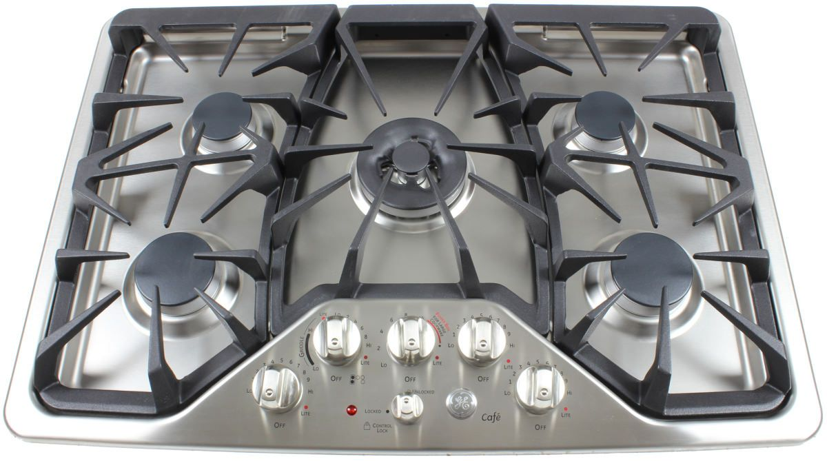 1600 the ge cafe cpg350setss 30inch gas cooktop 30 cooktop52 gas