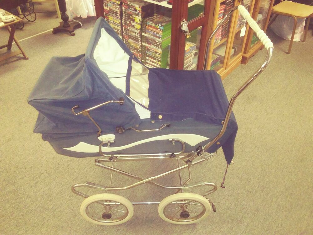 Vintage Perego Baby Canopy Stroller Baby Carriage 1960's