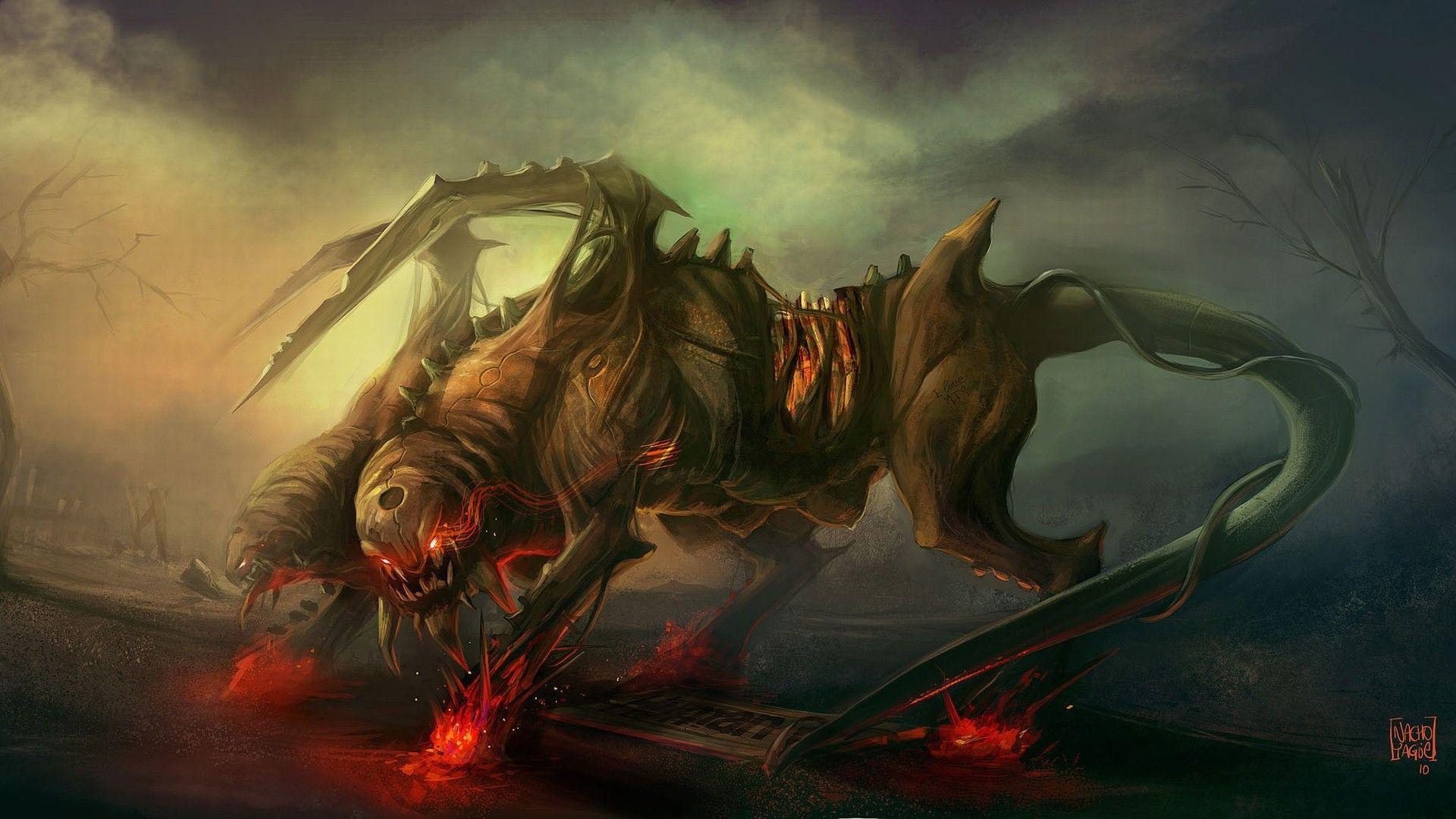 Horror Fantasy Wallpaper Fantasy Creatures Art Fantasy Creatures Fantasy Monster