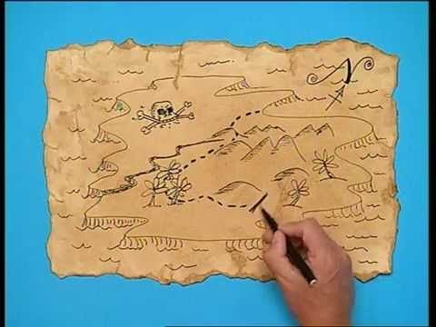 Disney S Art Attack Cree Ta Propre Carte Au Tresor Carte Au