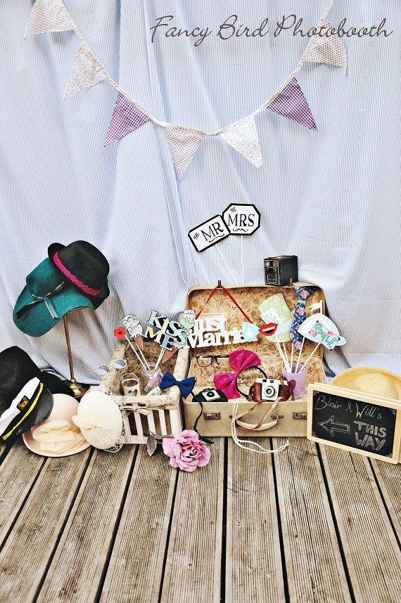 Vintage Photo booth props Wedding