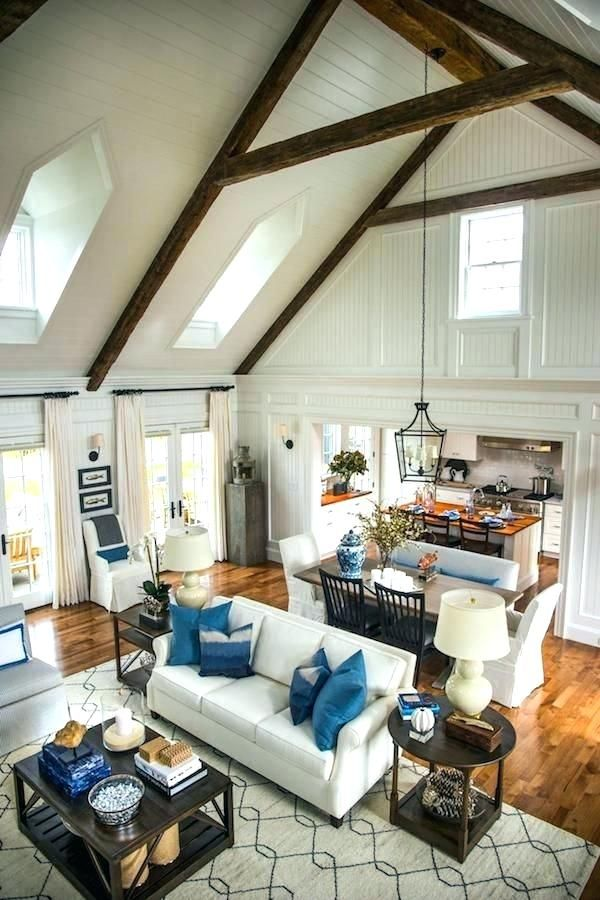 How To Make Your Small Living Room Look Larger Horror Underground Vaulted Ceiling Living Room Open Concept Living Room Living Room Floor Plans