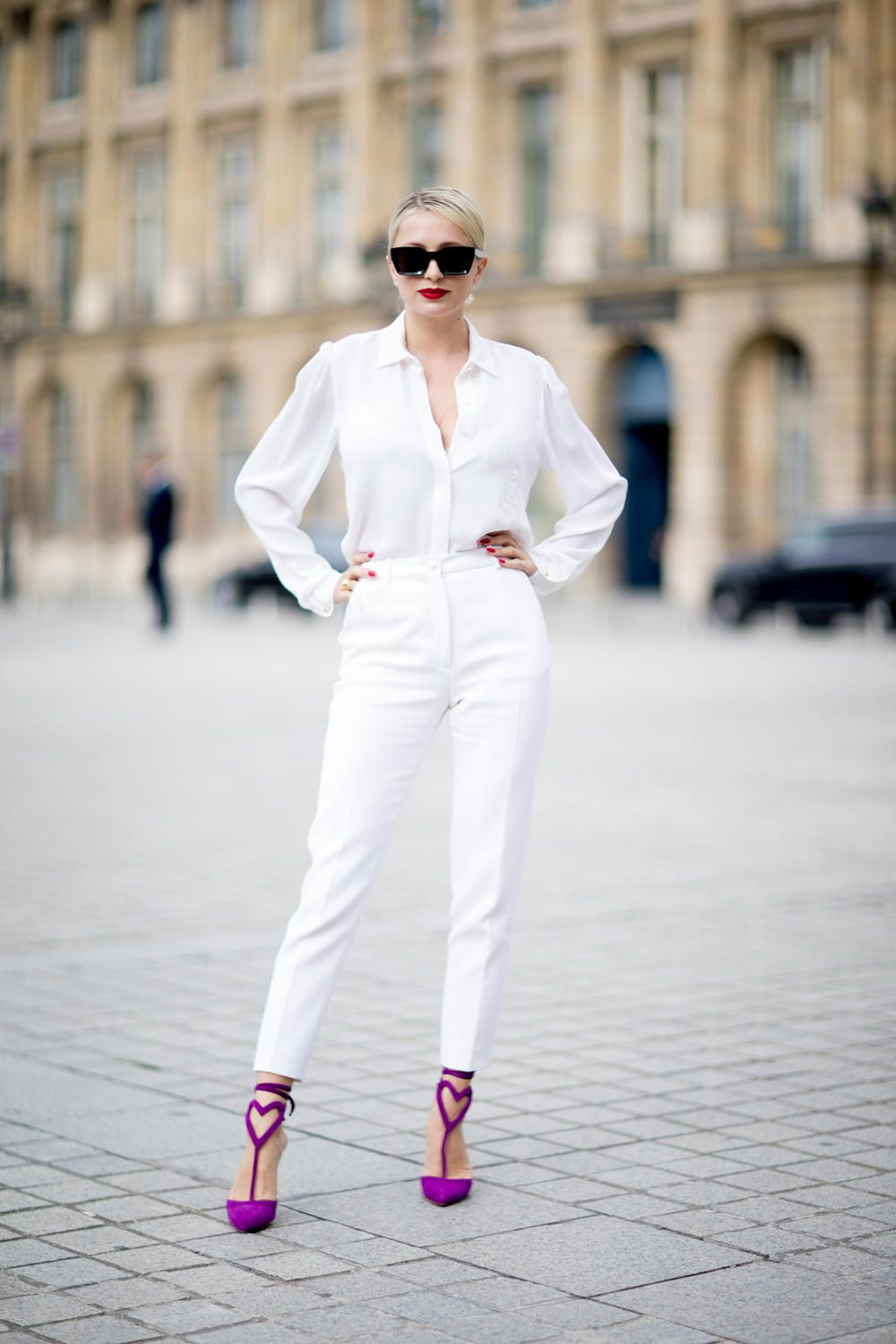0213fd72f76 All-White Outfits Were a Street Style Favorite at Paris Couture Week