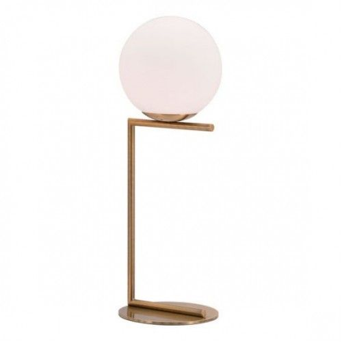 White Globe Modern Gold Base Table Lamp Geometric Table Lamp Brass Table Lamps Table Lamp