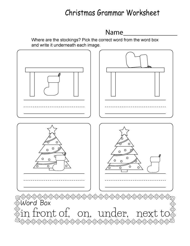 Free Printable Grammar Worksheets Christmas K5 Worksheets