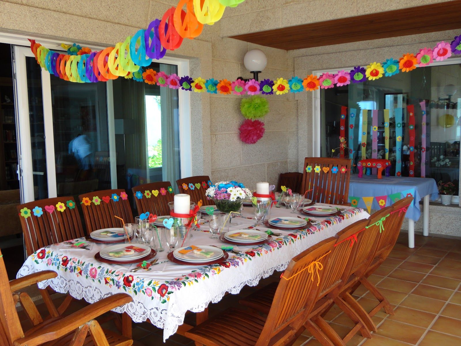 Decoraciones Hippies Fiesta Tematica Hippie Ideas Buscar Con Google Fiestas