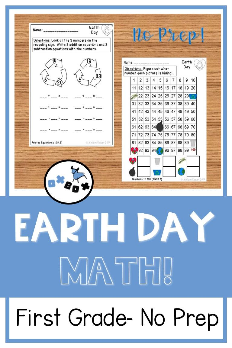 Earth Day Math First Grade Common Core Math Worksheets Common Core Math Math Worksheets [ 1152 x 768 Pixel ]
