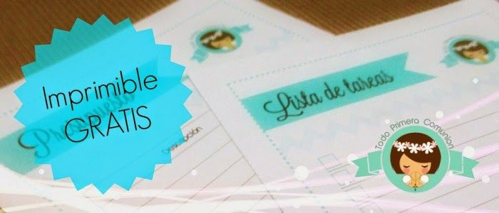 Imprimible Gratis: Presupuesto y lista de tareas para la Comunión | Todo Primera Comunión www.todoprimeracomunion.com