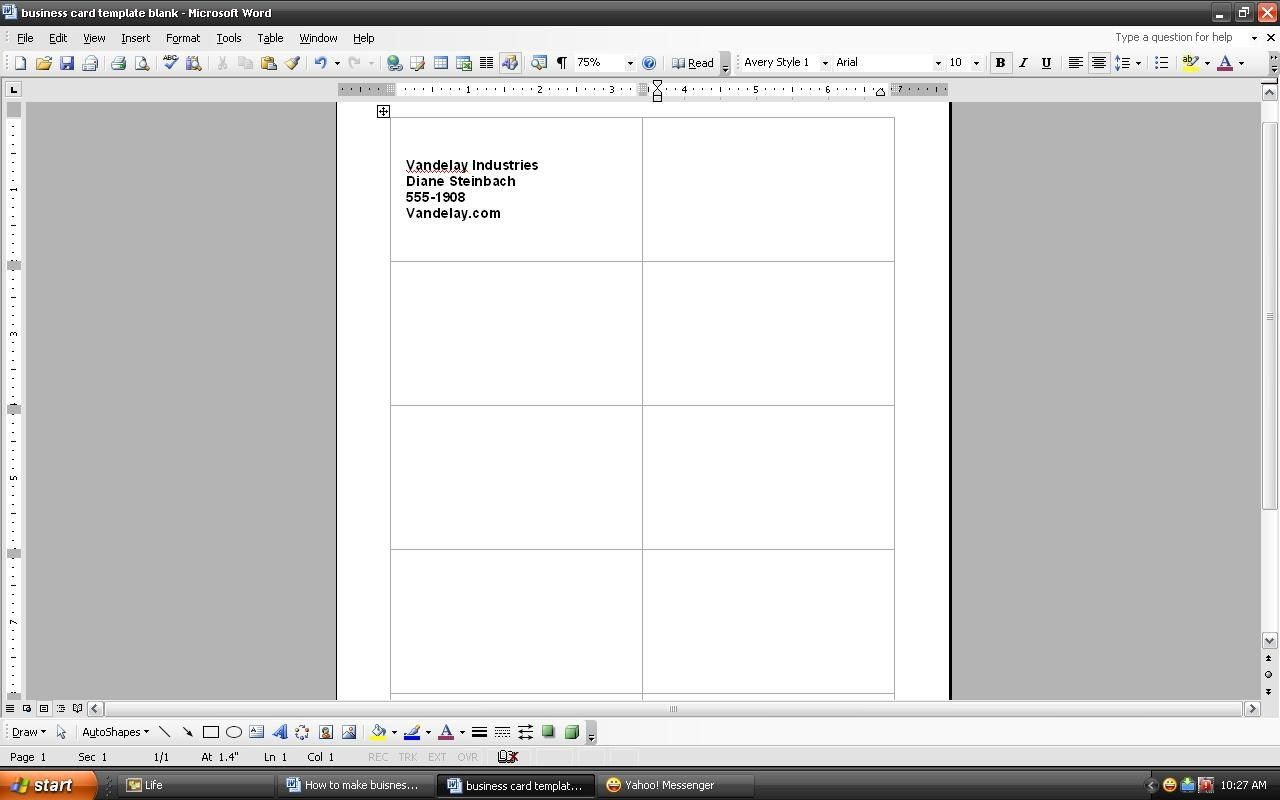 How To Make A Business Card In Word In 2021 Words How Are You Feeling Business Cards