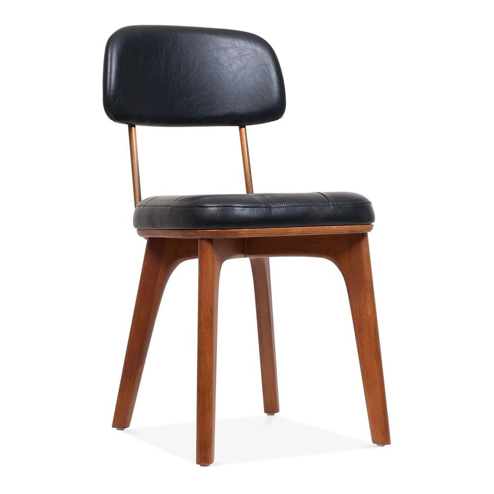 Cult Living Winchester Wooden Dining Chair Faux Leather