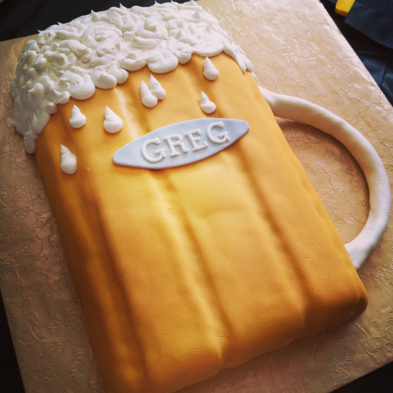 Beer Mug Cake, 60th Birthday