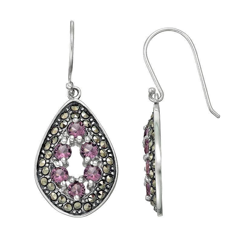 29c114efe Tori Hill Sterling Silver Cubic Zirconia & Marcasite Teardrop Earrings,  Women's, multicolor