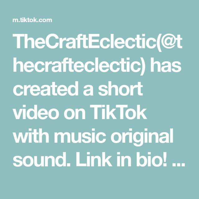 Thecrafteclectic Thecrafteclectic Has Created A Short Video On Tiktok With Music Original Sound Link In Bio Bookmarks Resin The Originals Book Club Music