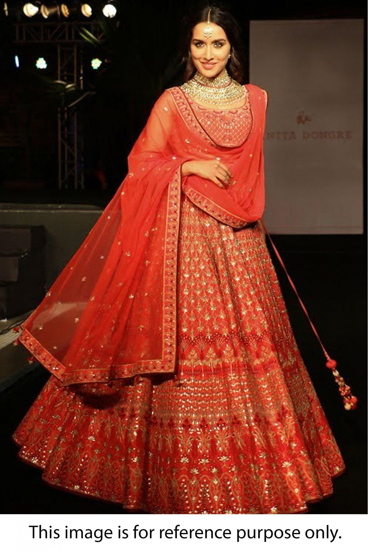 9c0c22cb82 Red Colour Taffeta Silk Fabric Party Wear Lehenga Choli Comes with matching  blouse. This Lehenga Choli Is crafted with Thread Work,Dori Work,Sequins  Work ...