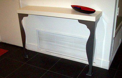 Une console pour donner du style à votre entrée 30€ pied et tablette fixation invisible chez ikea