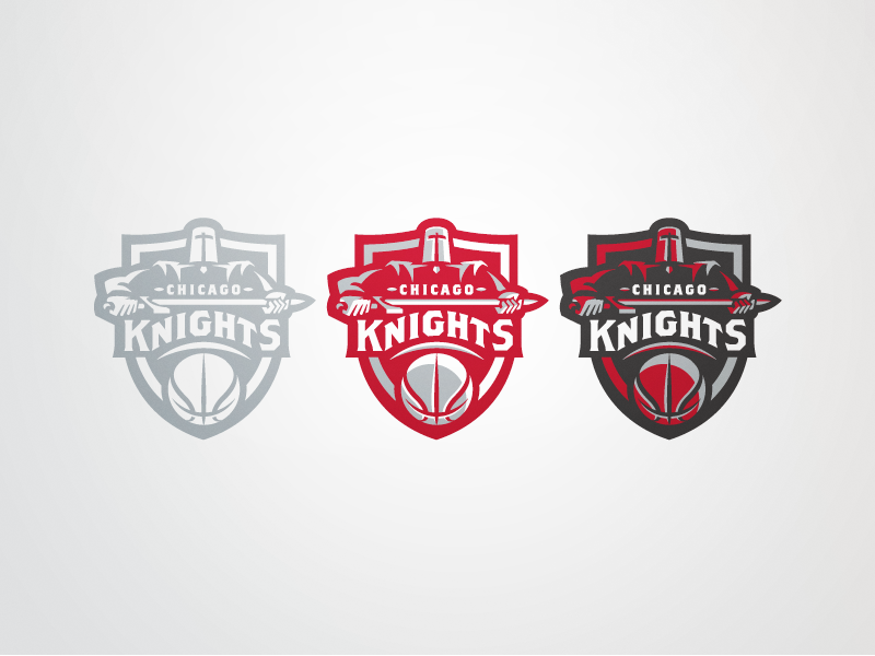 Chicago Knights Set Knight Logos And Sports Logos