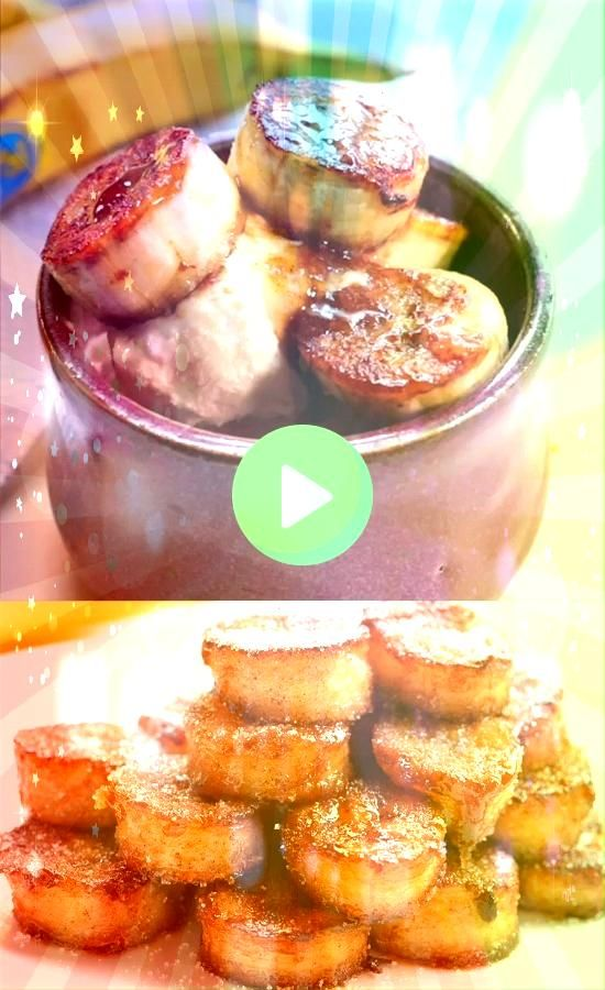 Fried Cinnamon Bananas These pan fried cinnamon bananas are so easy to make and taste SO GOOD Theyre amazing seriously AMAZING on ice cream or pancakes or just as a snack...