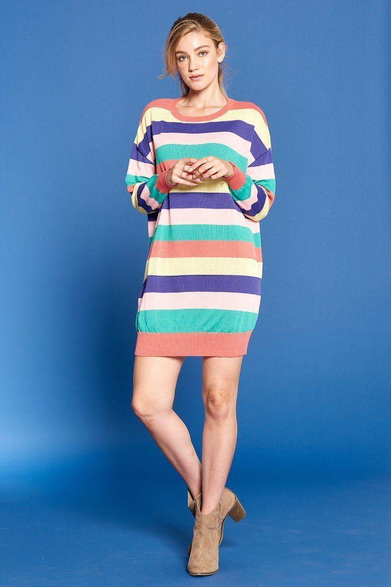 Striped Knit Sweater Dress Sweater Dress Women Sweater Dress Knit Sweater Dress [ 1199 x 800 Pixel ]