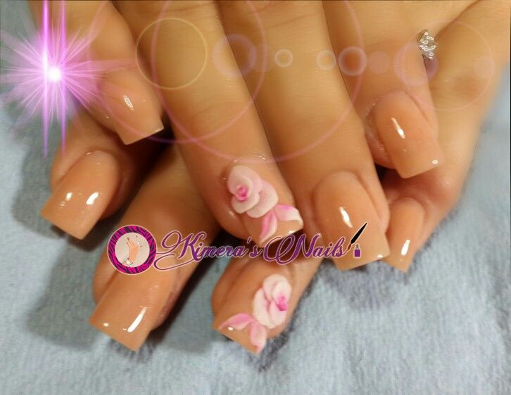 #nails #uñasbellas #uñasacrilicas #acrilycnails #uñas #diseño #kimerasnails #glitter #nude #fashionnails #fashion #sculpturenails #esculturales #sculpture #flor #3Dflower #3D #flores