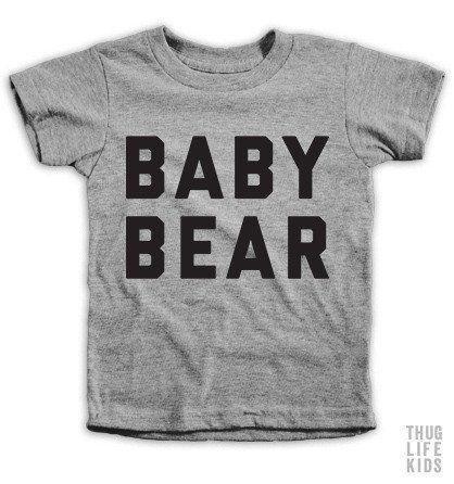 a3a845855d19 Baby Bear Kids Tees | kids | Kids shirts, Kids outfits, Boys shirts