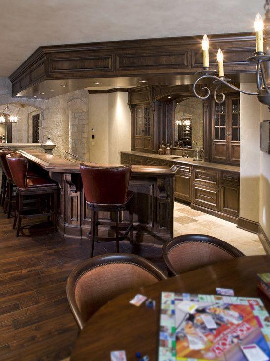Basement bar bars pinterest man cave design and for Man cave kitchen ideas