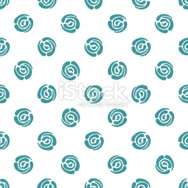 Seamless pattern with polka dots. Abstract roses. Royalty Free Stock Vector Art Illustration