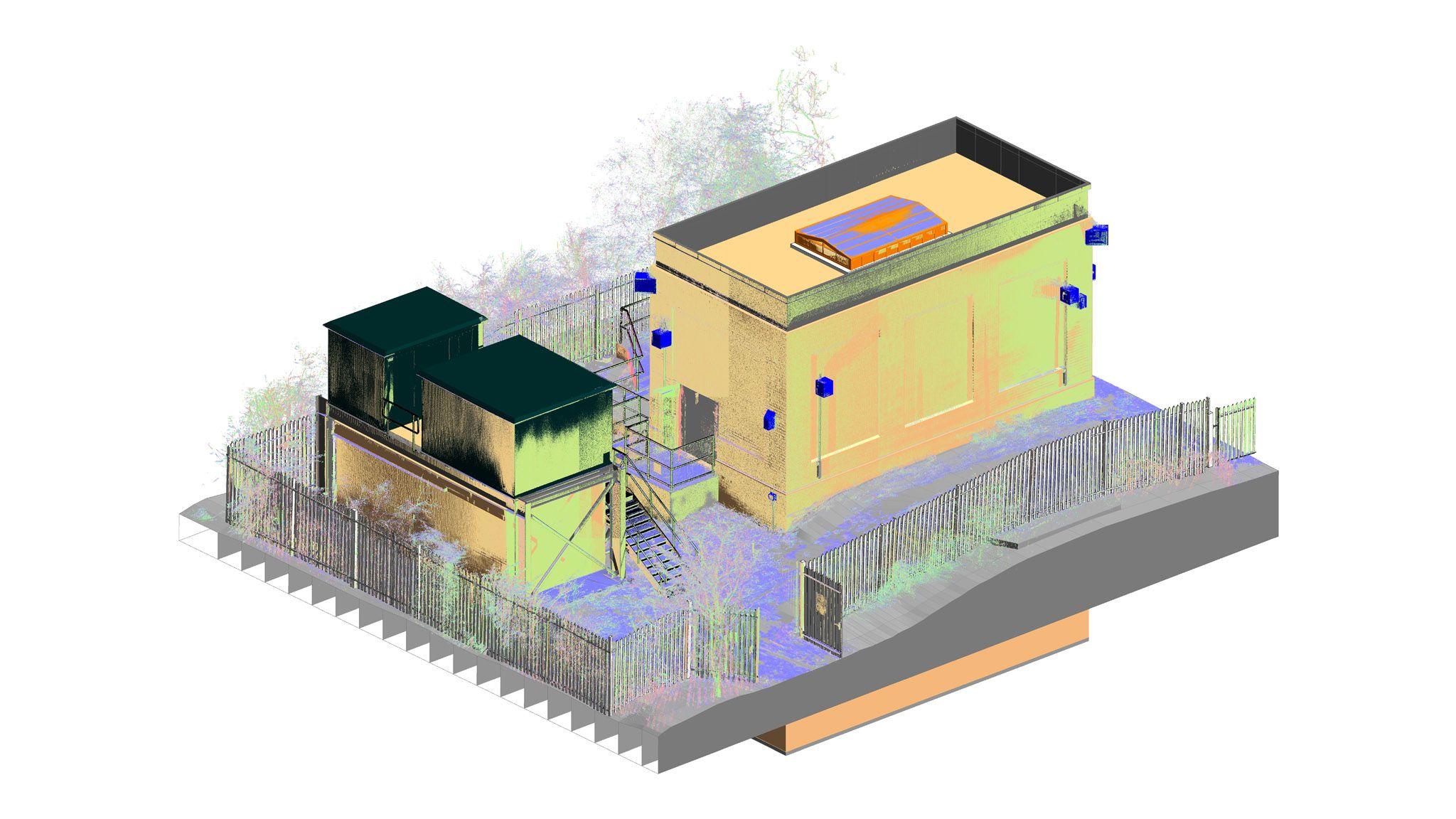 3d Laser Scan 3d Model Of A Water Pumping Station Scan2bim 3d Model Model Scan