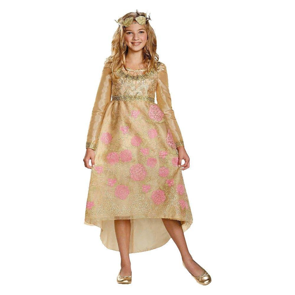 Disney maleficent girlsu aurora coronation dress and headpiece