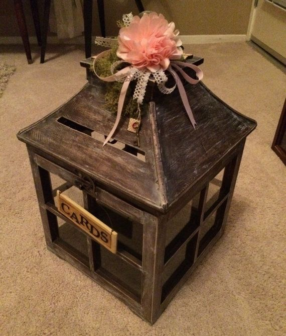 Wedding Gift Table: Custom Lantern Card Holder Box Color Of Your By DearStudio