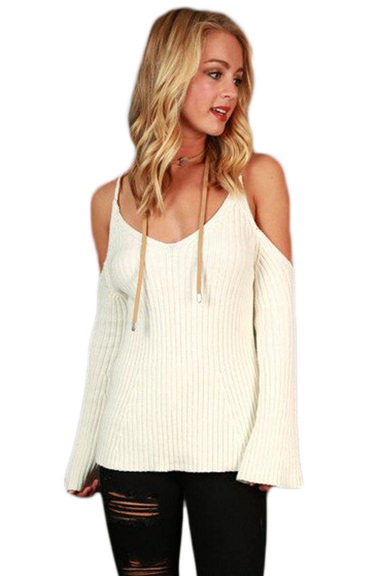 4980cb49fec1 Pulover dama modern crem ieftin model tineresc Iti recomandam acest produs  daca vrei si tu sa iti reinnoiesti garderoba. Cauti modele de pulovere dama  ...