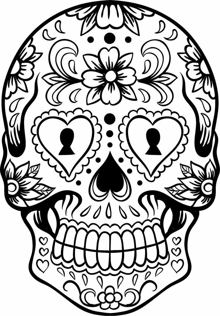 Sugar Skull Designs Coloring Pages Sugar Skulls Coloring