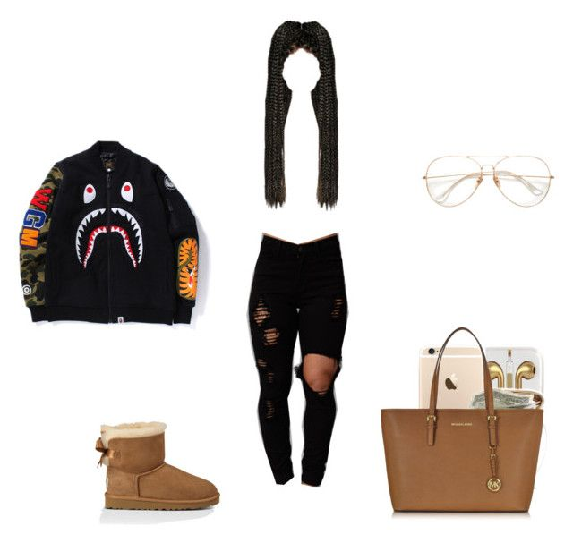 """""""Untitled #139"""" by bcurlzzzz ❤ liked on Polyvore featuring UGG Australia and Michael Kors"""