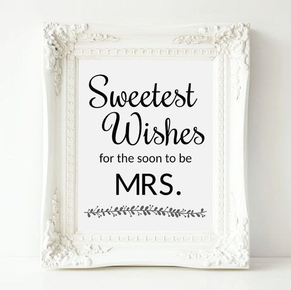 Bridal Shower Guest Book Sign, Best Wishes For Soon To Be