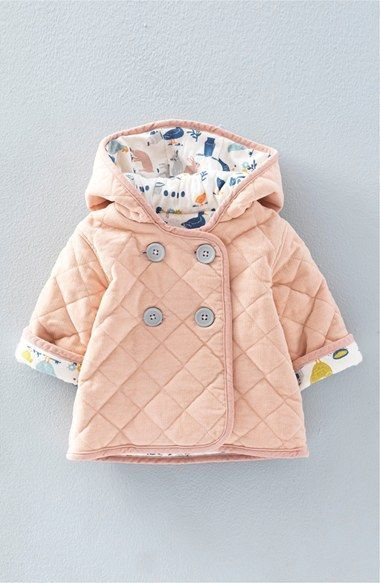 Mini Boden 'Pretty' Quilted Corduroy Jacket (Baby Girls & Toddler ... : baby quilted coat - Adamdwight.com