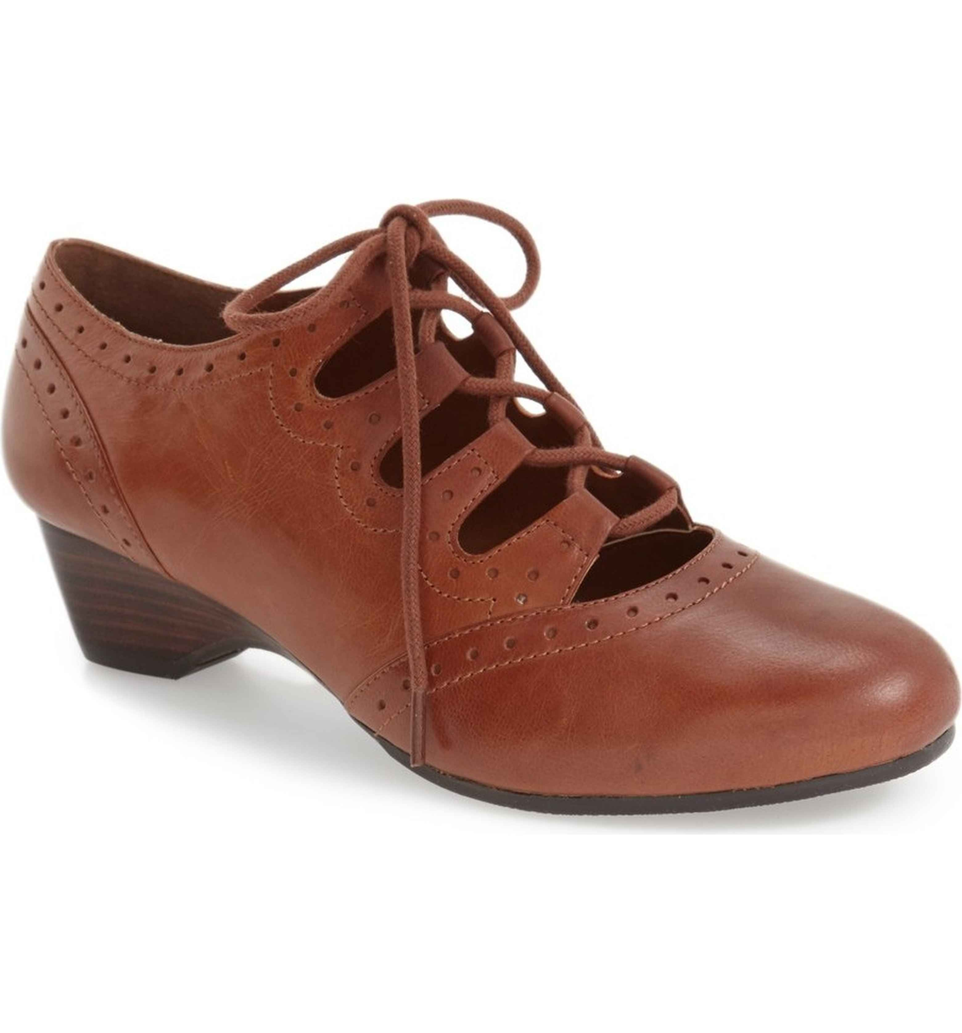 Lowest Prices Posie Ghillie Oxford Women Womens Stone Leather BELLA VITA Womens Flats