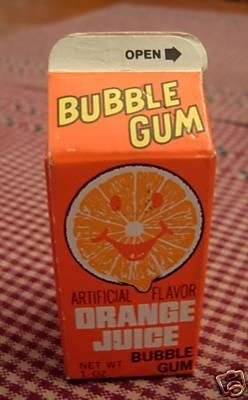 Good Memories | Orange Juice Bubble Gum. Used to get this at the candy store on Nantucket :)