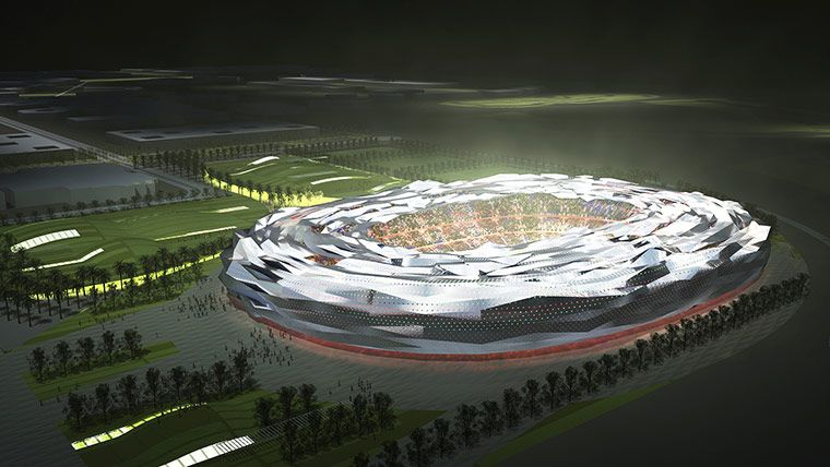 World Cup 2022 Qatar S Stadiums In Pictures Qatar Stadium World Cup 2022 Stadium