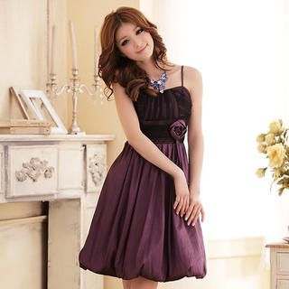 Buy 'JK2 – Two-Tone Corsage-Accent Cocktail Dress' with Free International Shipping at YesStyle.com. Browse and shop for thousands of Asian fashion items from China and more!