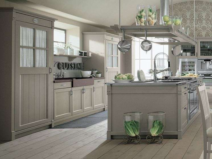 la cucina in stile country chic - Cucina country chic grigia