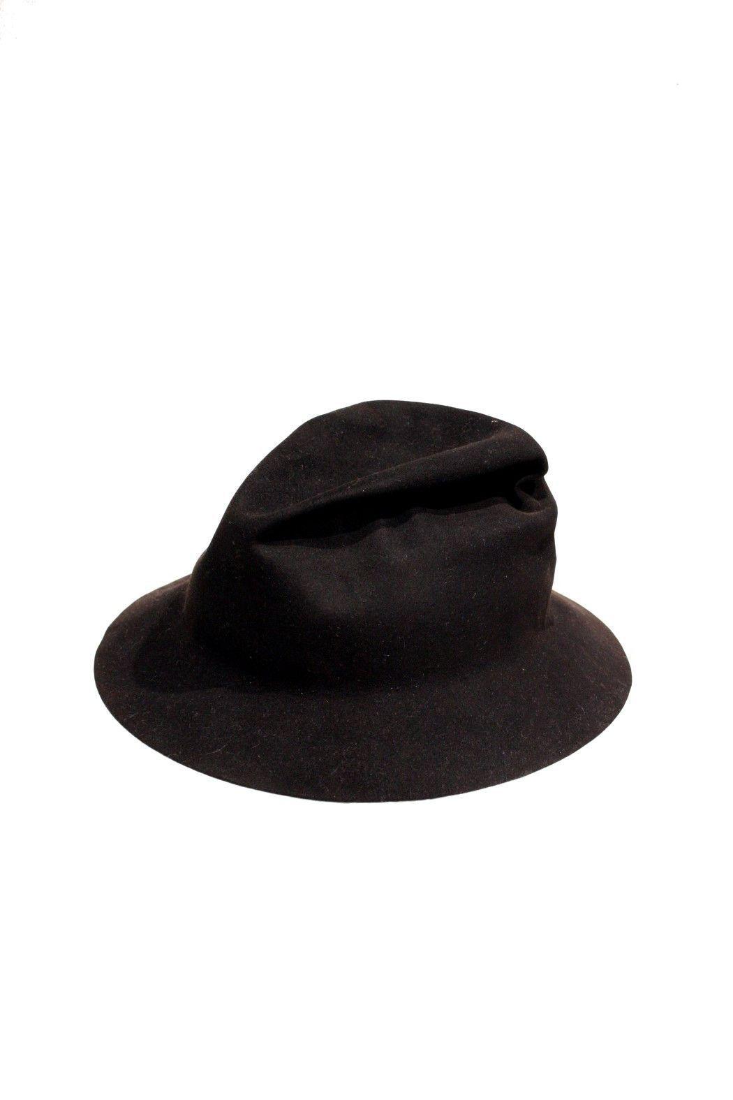 Black Easy Burnt Creased Hat
