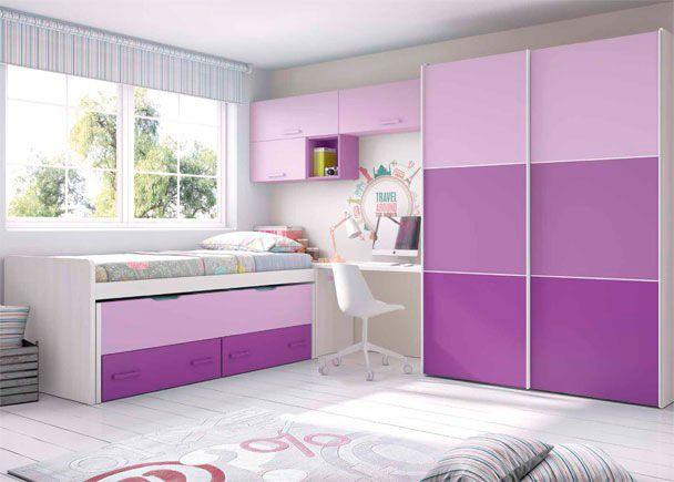 Habitaci n infantil con cama deslizante armario baby bed for Muebles mago dormitorios juveniles