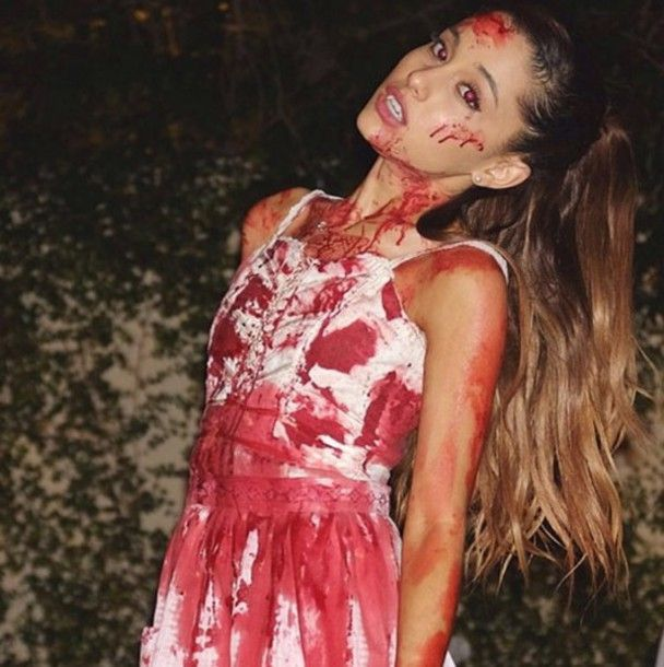 ariana grande halloween ariana grande dress blood scary vampire halloween costume halloween dress - Blood For Halloween