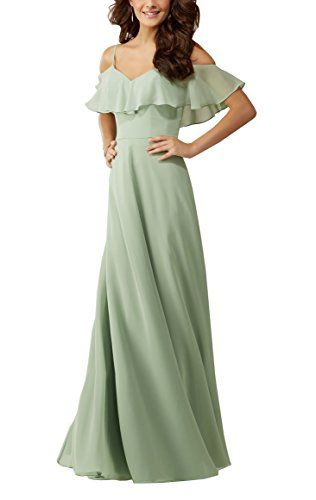 1c5eaf9915e Meledy Womens Spaghetti Chiffon Long Prom Party Dresses Zipper Backless  Formal Bridesmaids Wedding Dresses Blue US02      AMAZON BEST BUY      ...