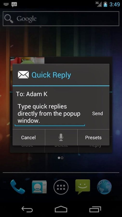 SMS Popup for Android Apk free download   Android Apps   Android apk