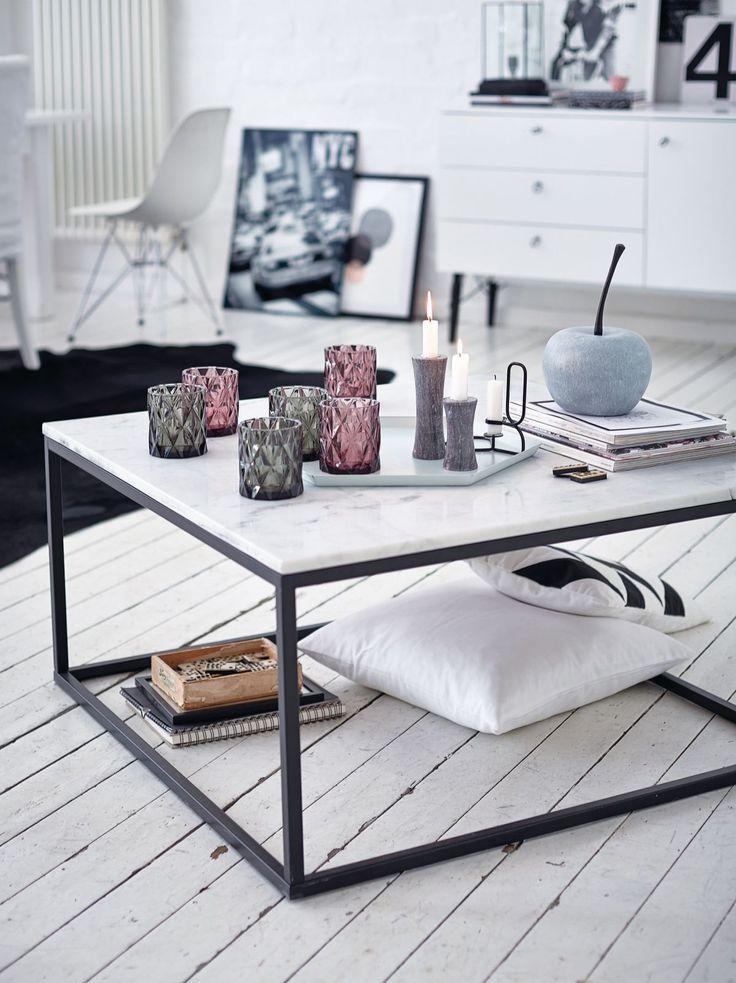 couchtisch quadratisch modern marmor metall