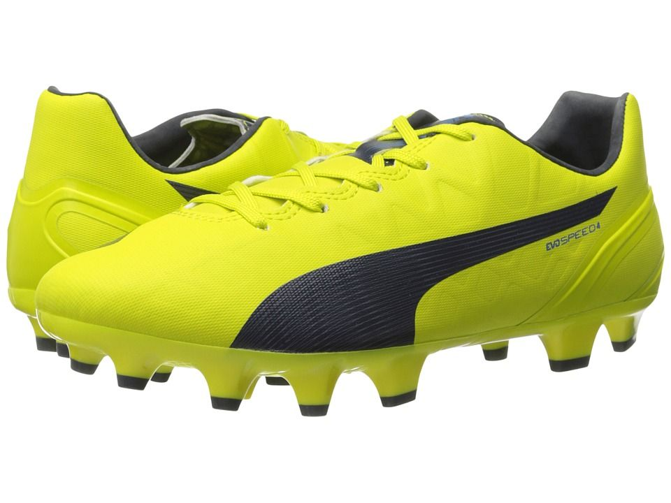 Womens Shoes PUMA evoSPEED 4.4 FG Sulphur Spring/Total Eclipse/Electric Blue Lemonade